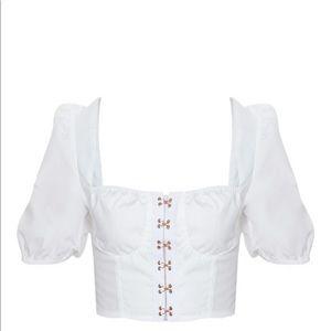 White Corset Top